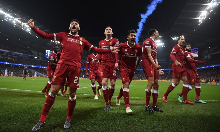liverpool fc celebrates in the champions league